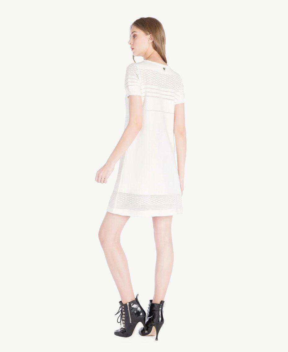 Viscose dress Light Ivory Woman PS8362-03