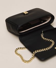Faux leather shoulder bag with studs Black Woman 201MA7051-05