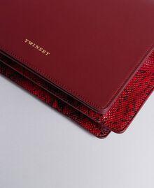 Big animal print shoulder bag in smooth leather Bicolour Burgundy / Burgundy Python Woman AA8PG3-04