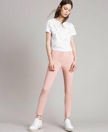"""Pantalon cigarette Rose """"Pink Bouquet"""" Femme 191LB22GG-01"""