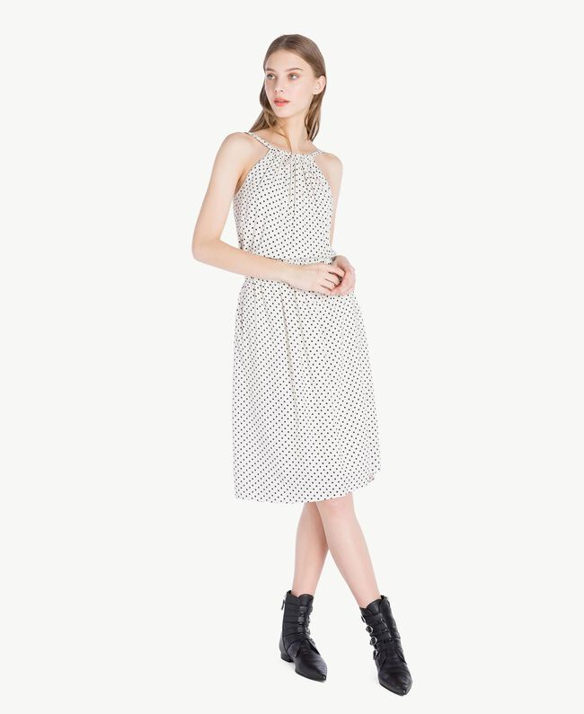 Polka dot dress Ivory Polka Dot Print / Black Woman PS82MP-01