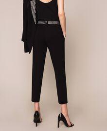 Pantalon cigarette avec clous Noir Femme 201MP2214-03