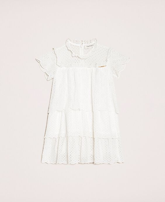 Creponne dress with broderie anglaise