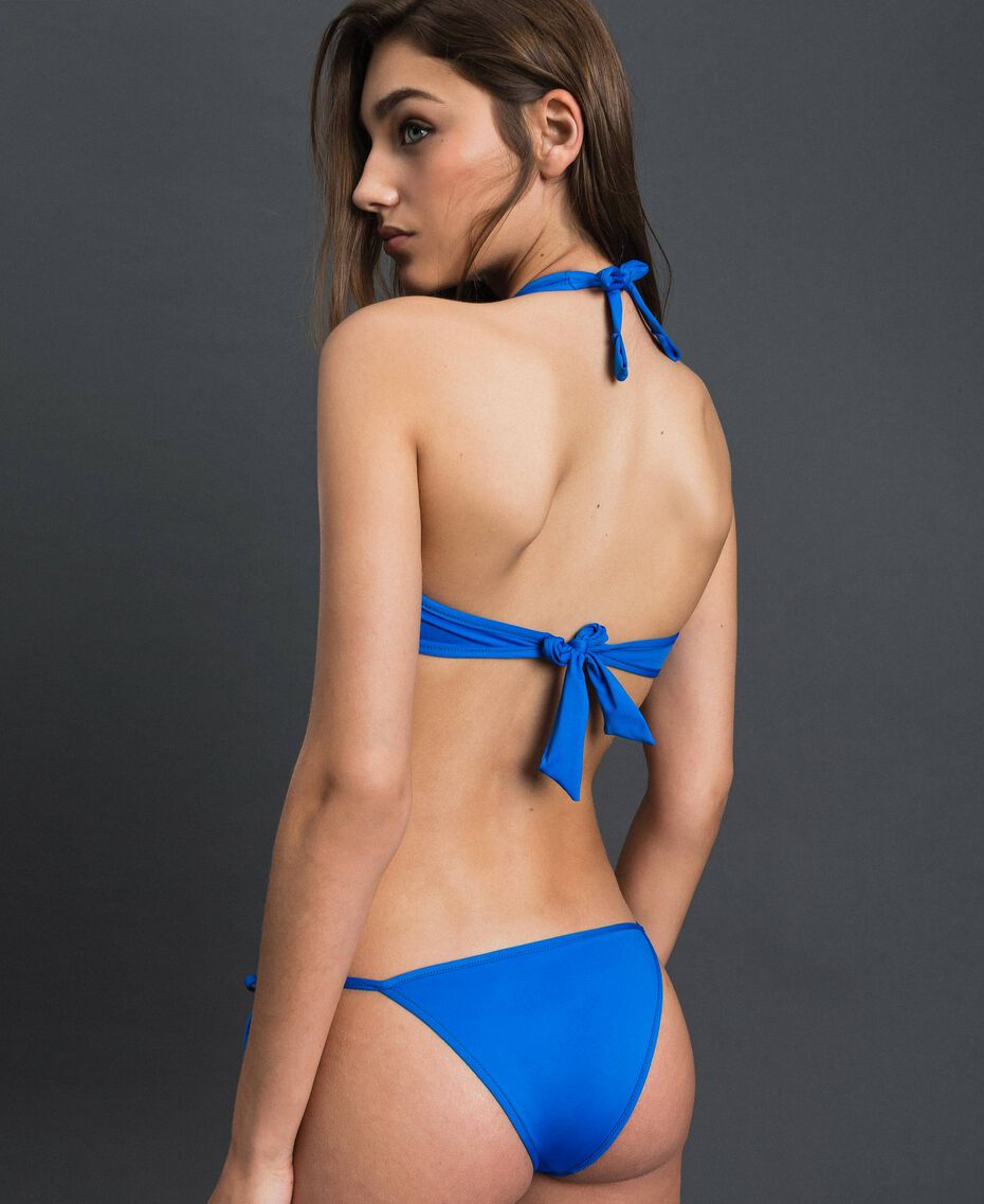 Reversible bikini Fluorescent Orange / Fluorescent Blue Woman 191TQM023-05