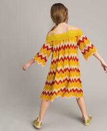 Multicolour jacquard dress Multicolour Jacquard Child 191GJ2270-03