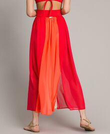 """Jupe longue avec panneaux multicolores Multicolore Rouge """"Framboise"""" / Beige """"Voie lactée"""" / """"Jus d'Orange"""" Femme 191LM2TCC-05"""