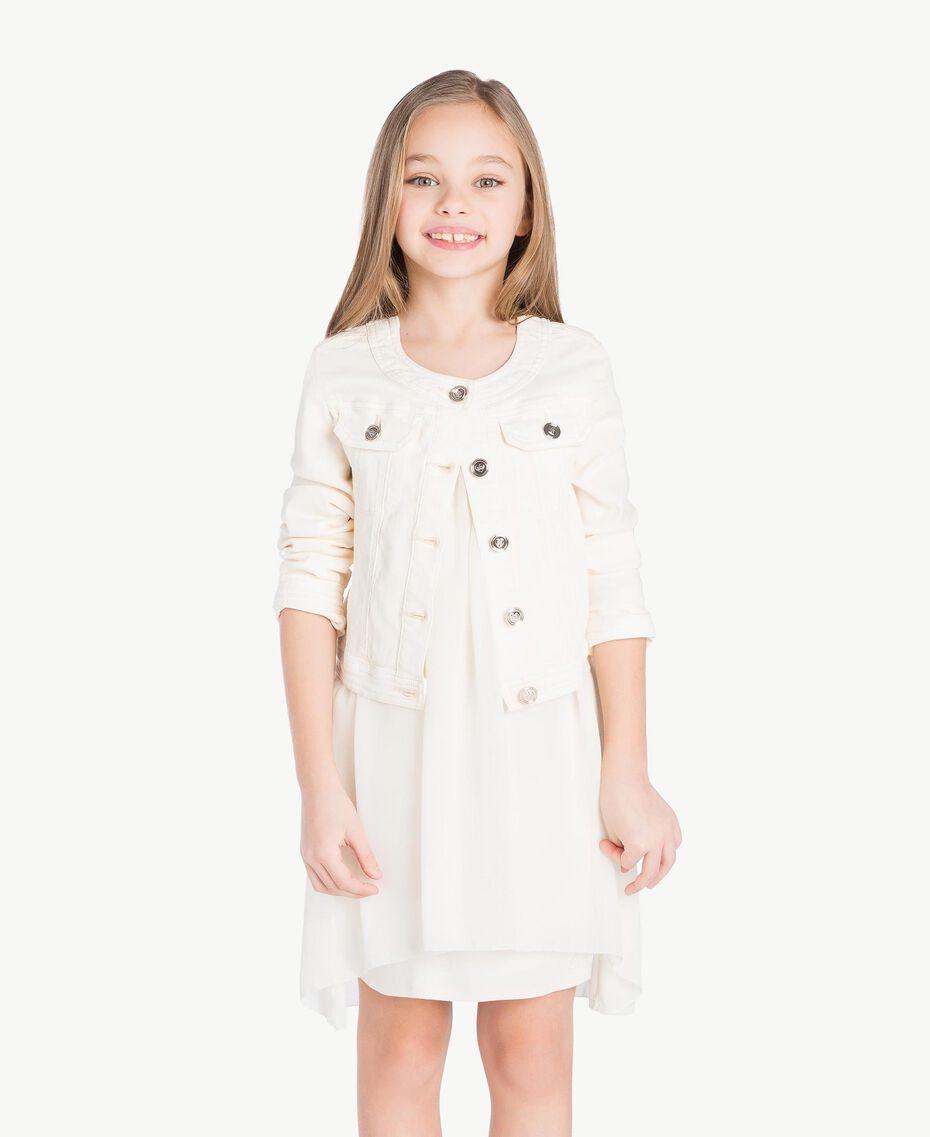 Mandarin collar jacket Pale Cream Child GS82CN-02