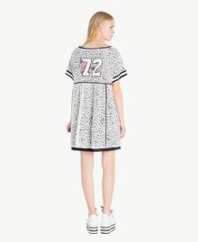 Kleid mit Spitze Optisches Weiß / Schwarz Frau YS83DA-03