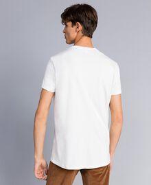 T-shirt in cotone con stampa Madreperla Uomo UA82GB-03