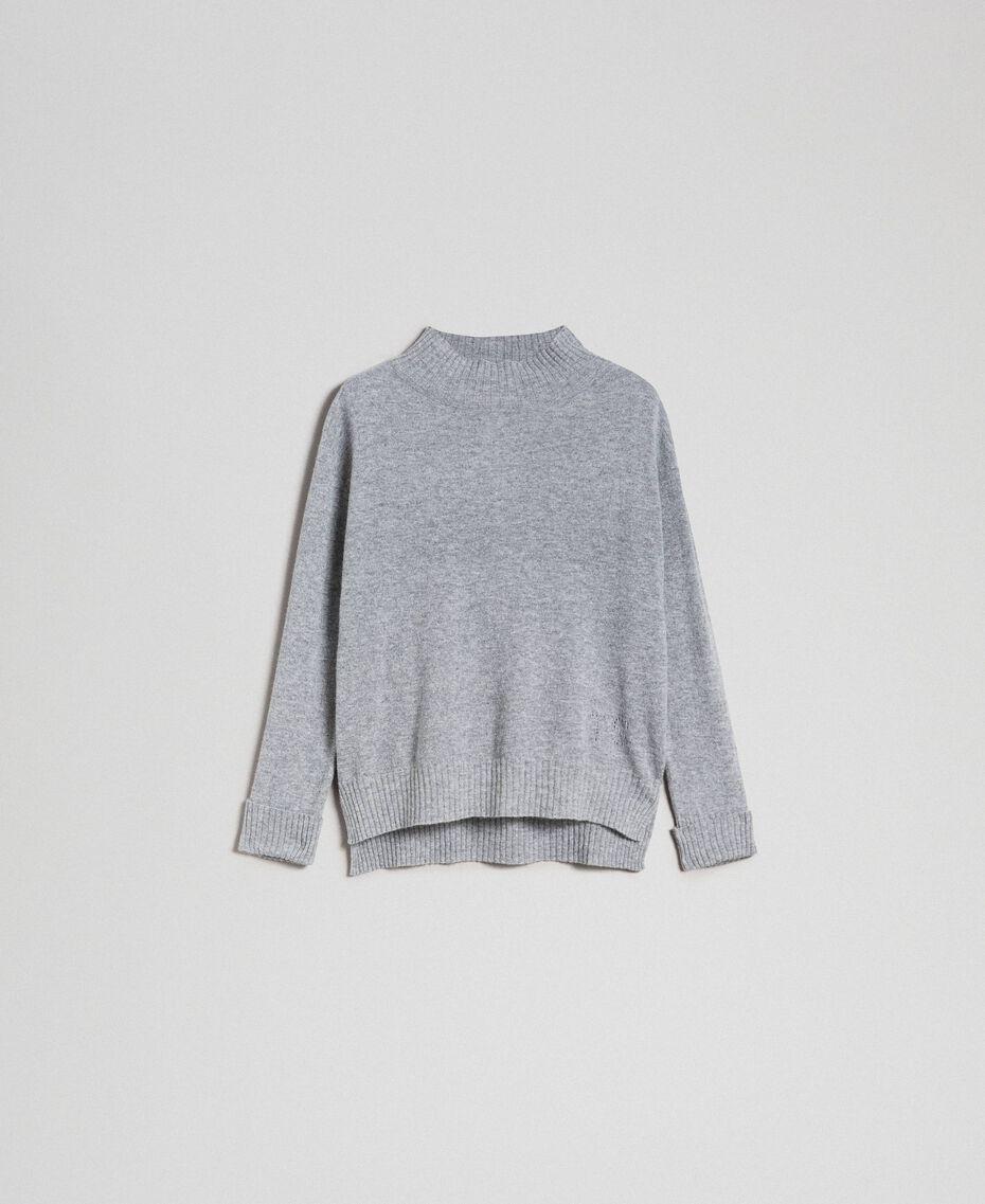 Pullover aus Wolle und Kaschmir Grau Melange Frau 192TT3025-0S