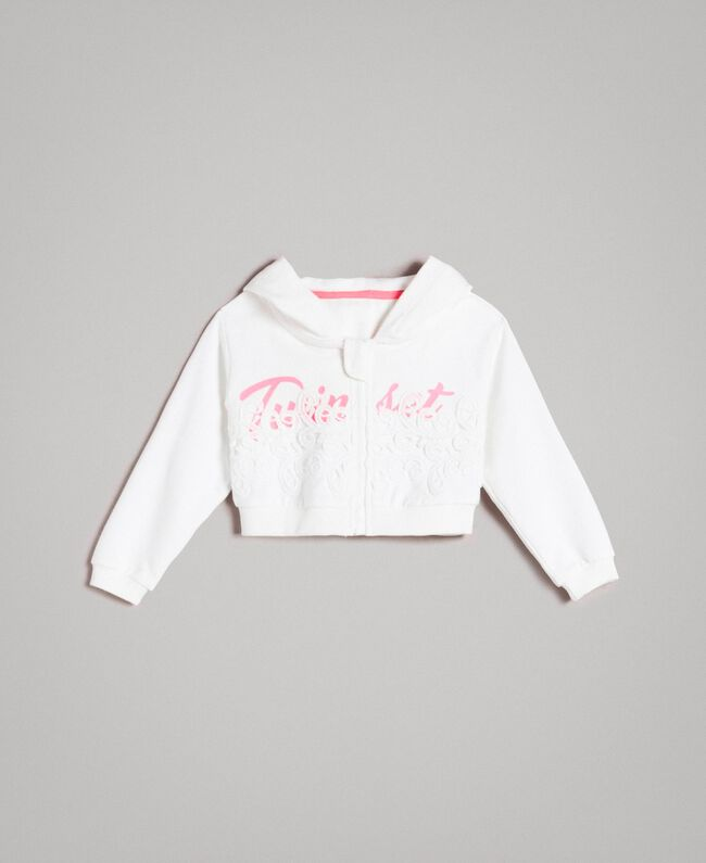 Stretch cotton cropped sweatshirt White Child 191GB2040-01