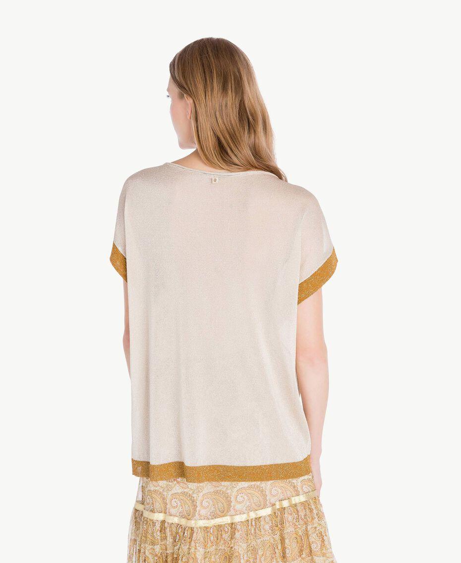 Pullover aus Lurex Lurex Platin Frau TS836R-03