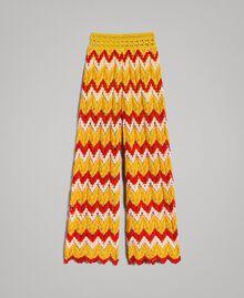 Multicolour jacquard trousers Multicolour Jacquard Child 191GJ2272-01
