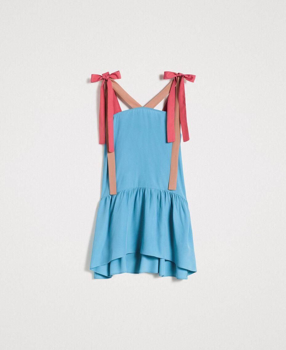 """Colour block mini dress Multicolour """"Tender Rose"""" Pink / Daylight Blue / Porcelain Beige Woman 191LM2HMM-0S"""