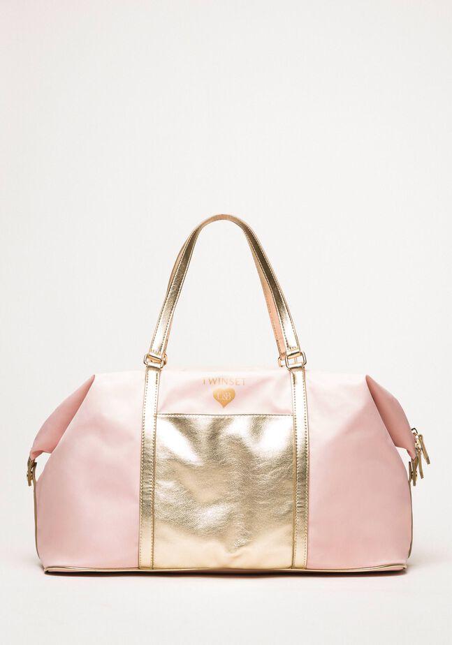 Reisetasche aus Metallic-Lederimitat