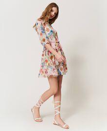 """Платье с цветочным принтом Принт Большой Цветок Розовый """"Розовая фуксия"""" женщина 211LM2JKK-02"""