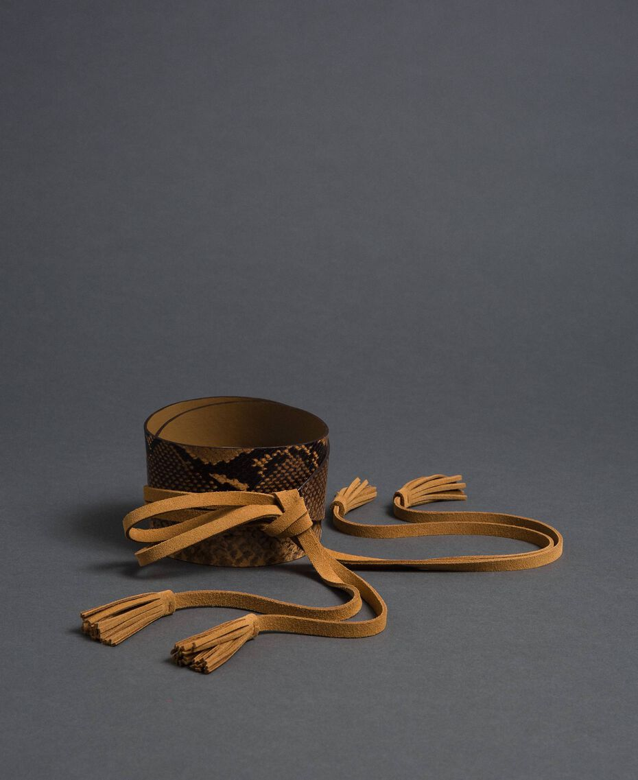 Python print belt with tassels Brandy Python Print Woman 192TO5344-01