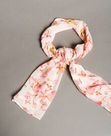 Georgette scarf with butterflies All Over Pink Butterflies Print Woman 191TO530G-01