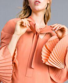 Bluse aus Seidenmischung mit Plissee Sandrosa Frau TA823T-04