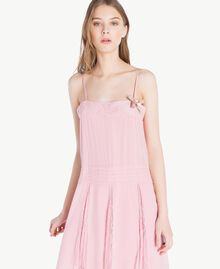 Silk dress Hydrangea Pink Woman PS82EA-04