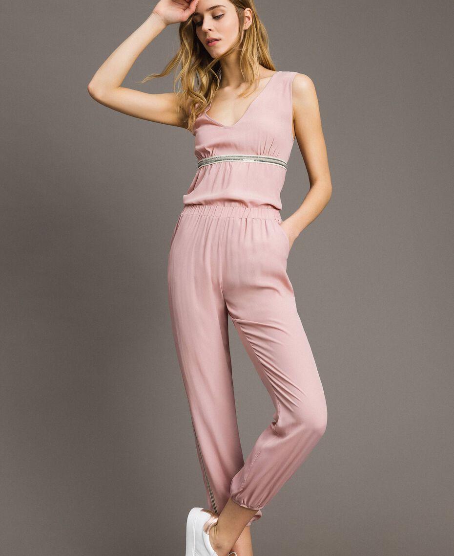"""Pantalon de jogging à paillettes Rose """"Pink Bouquet"""" Femme 191LB2LDD-02"""