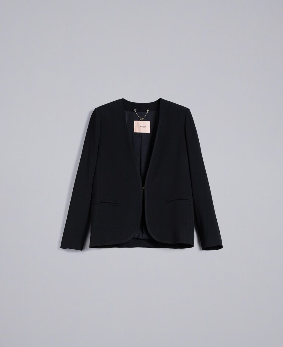 Envers satin tuxedo jacket Black Woman QA8TGN-0S
