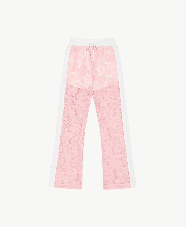 Hose aus Spitze Zweifarbig Pinkie / Optisches Weiß Frau LS89CC-01
