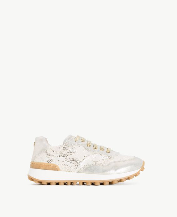 Lace running shoes