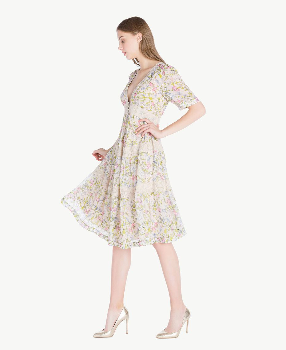 Kleid mit Print Frühlingsprint Frau PS82PB-02