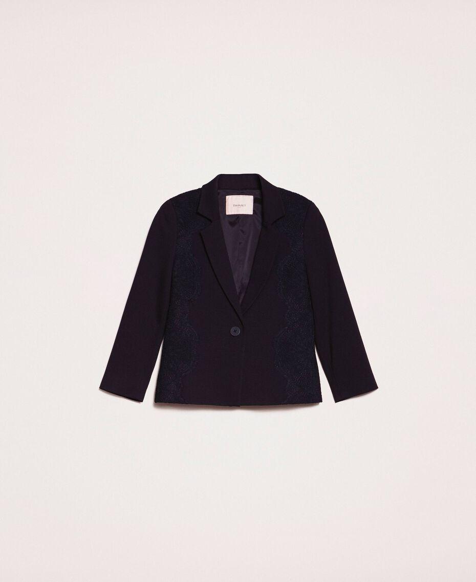 Blazer avec dentelle Noir Femme 201TP212B-0S