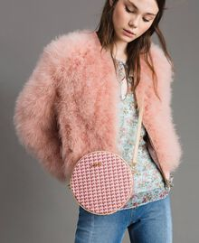 Butterfly print shoulder bag Pearl Pink Butterflies Print Woman 191TA7175-0S