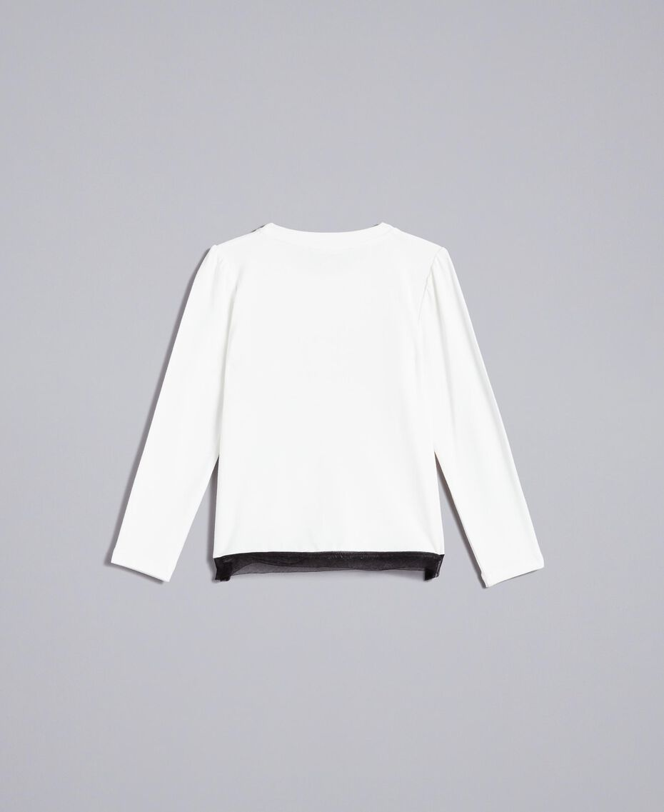 T-shirt in jersey con stampa Off White Bambina FA82JC-0S