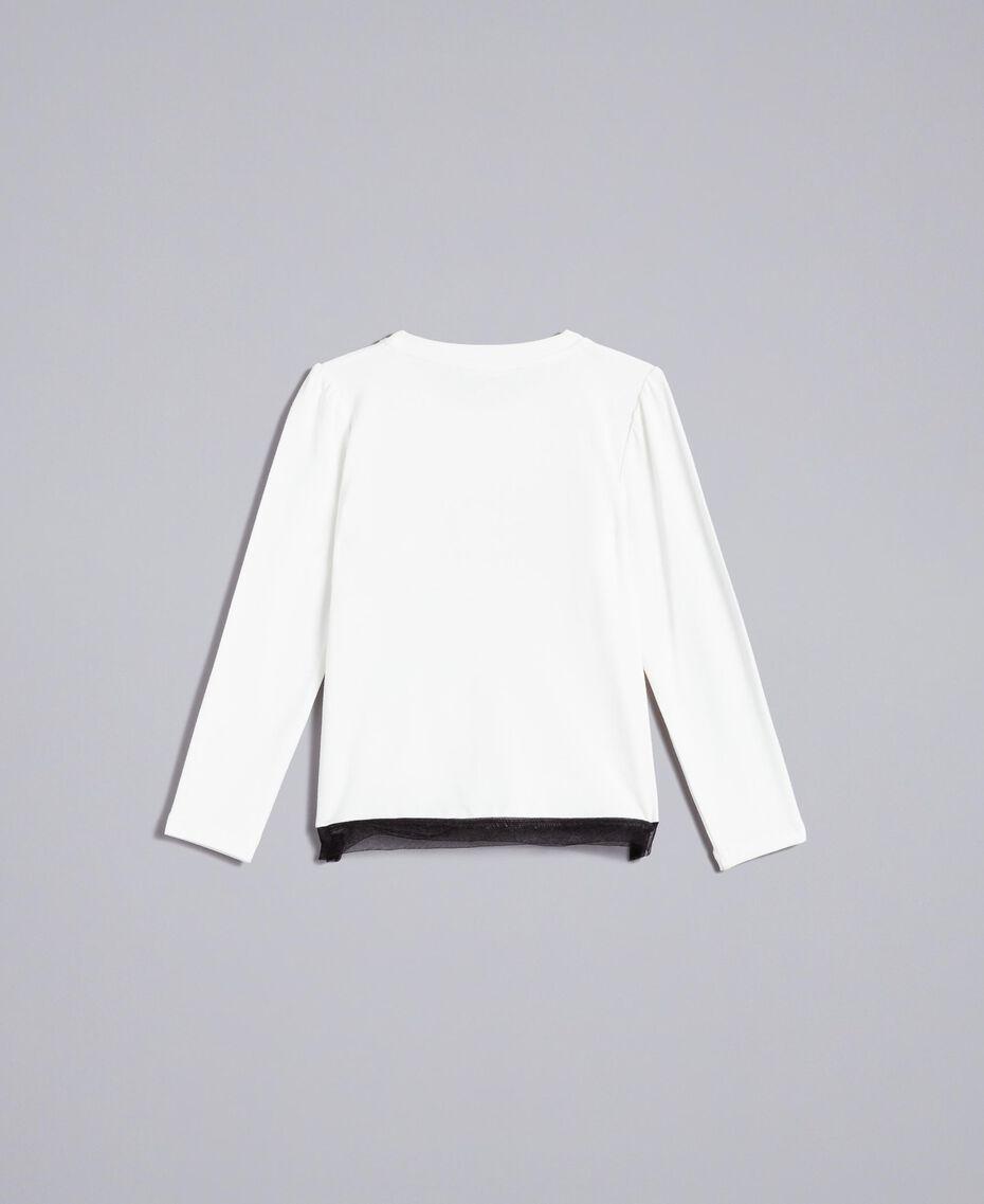 T-Shirt aus Jersey mit Print Mattweiß Kind FA82JC-0S