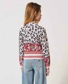 Bomber jacket cardigan with animal print Leopard Spot & Paisley Print Child 211GJ3542-03