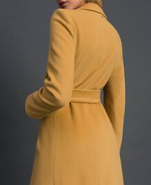 "Double breasted wool cloth coat ""Gold Camel"" Beige Woman 999TT2030-05"