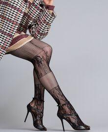 Высокие кожаные босоножки с заклепками Черный женщина CA8PRA-0S