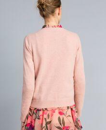 """Maglia in misto lana con ricamo Ricamo Rosa """"Pale Pink"""" Farfalle Agugliato Donna TA83JD-03"""