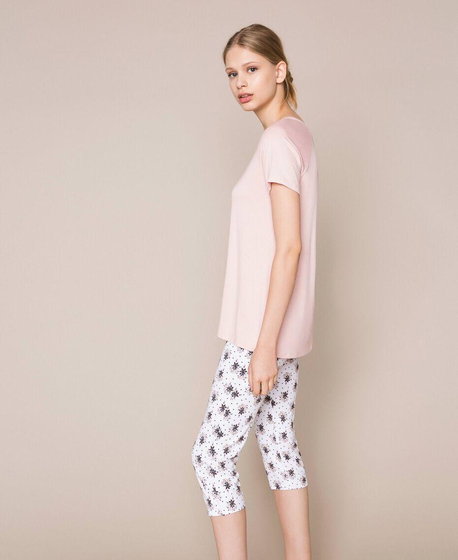 Floral print pyjamas Black Print Woman 201LL24CC-02