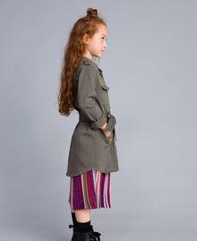 Hemdblusenkleid aus Baumwolle mit Stern Olive Kind GA827R-02