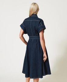 "'Antares"" denim shirt dress Dark Denim Woman 211MT211C-04"