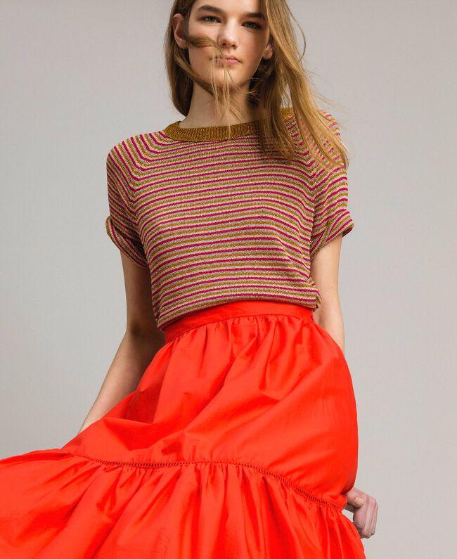 Pull rayé en lurex Rayures Multicolore Lurex Rose Femme 191TT3120-04