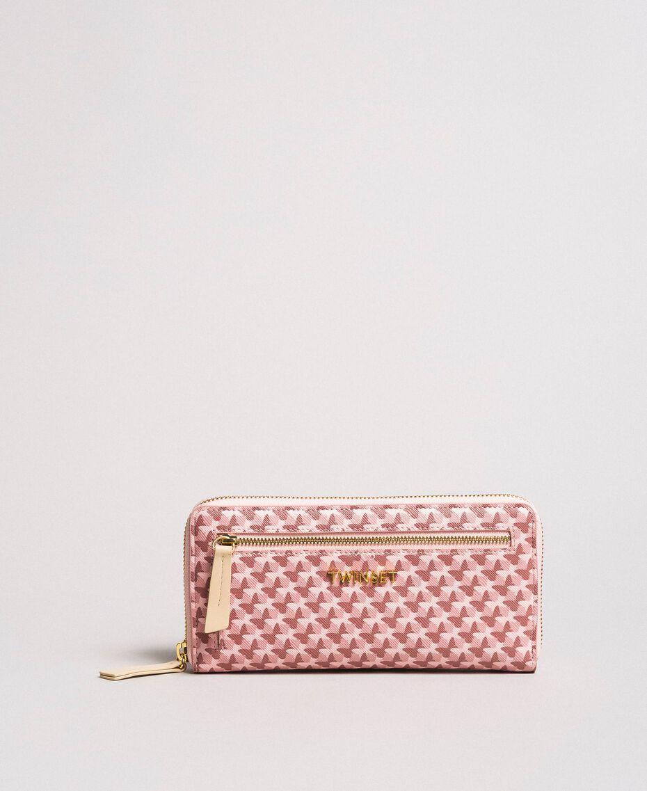 Geldbörse mit durchgängigem Schmetterlingsmuster Motiv Pearl Pink Schmetterlinge Frau 191TA7177-02