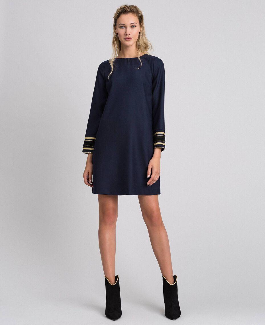 Платье из технической шерсти Синий Midnight женщина 192TT2459-02