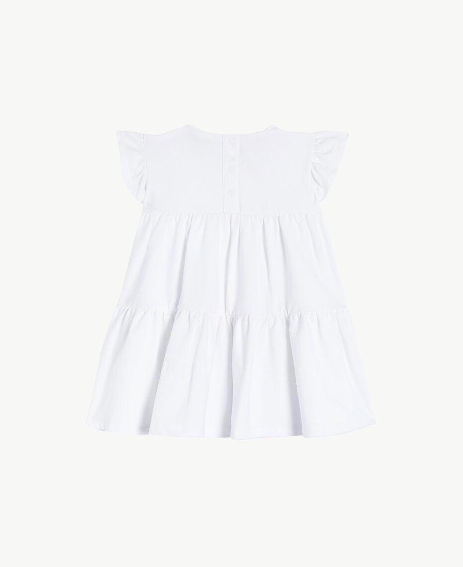 "Rhinestone dress ""Papers"" White Child FS823A-02"