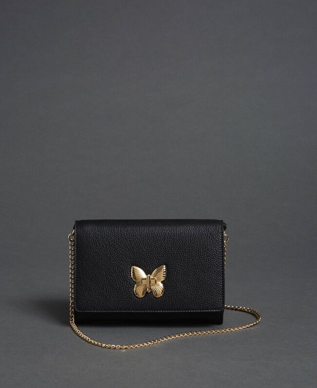 Small shoulder bag with butterfly shaped turn lock Mousse Pink Woman 192TA7022-01