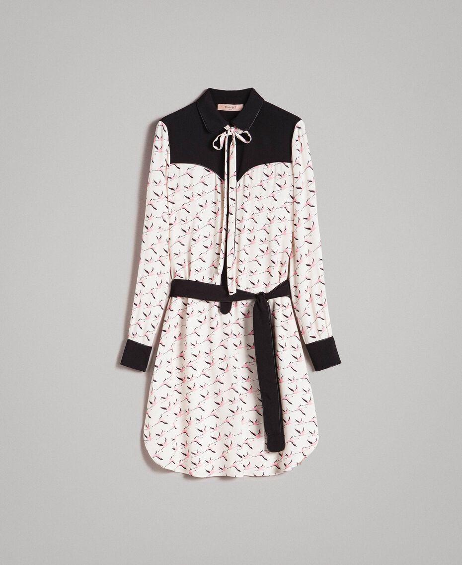 Robe chemisier avec imprimé flamants roses Imprimé Flamant Femme 191TP2760-0S