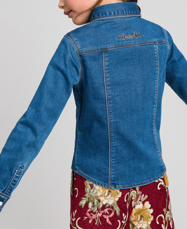 Hemd in Jeansoptik mit Taschen Mittleres Denim Kind 192GJ2511-04
