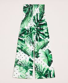 Hose mit Print Print Tropical Tupfen Grün Kind 201GJ2304-0S