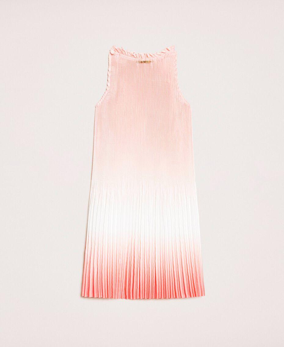 "Fadeout pleated satin dress ""Calypso Coral"" Red Multicolour Print Child 201GB2200-0S"