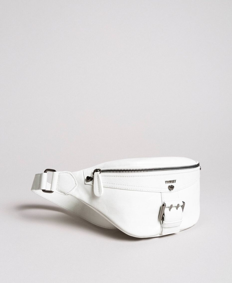 Rebel leather bum bag White Snow Woman 191TO8635-01